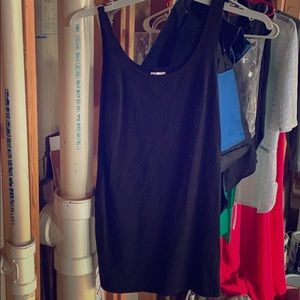 H&M mini black strappy dress